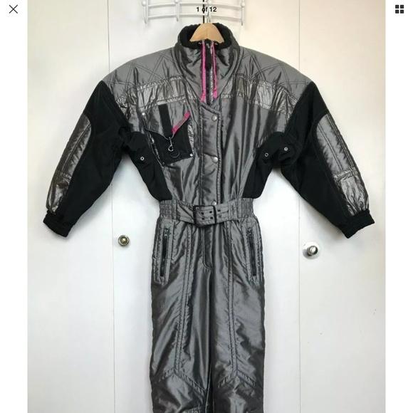 Vtg 80s KAELIN Solar Women's Ski Snowsuit Size 8